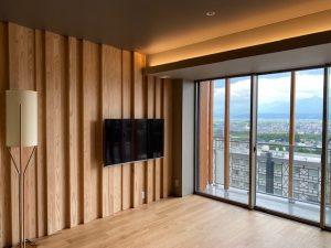 富良野新規ホテル客室テレビ