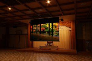 コロナ新生活様式に対応したお寺の映像行工事